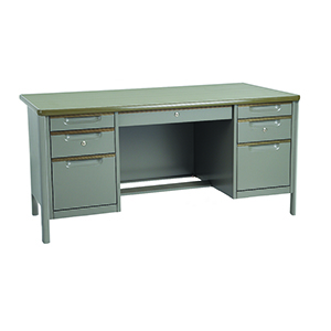 โต๊ะทำงานเหล็กพร้อมกระจก (6 ฟุต) ยี่ห้อ Kingsteel รุ่น TC-3472