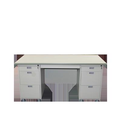 โต๊ะทำงานเหล็ก(สีครีมเมทัลลิค) ยี่ห้อ Luckyworld รุ่น DX-52-33